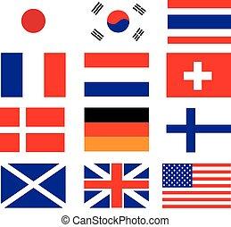 national, vecteur, drapeau