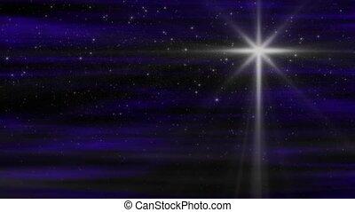 nativité, lumière étoiles, boucle
