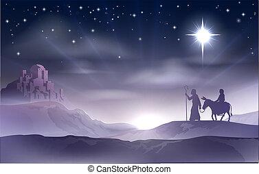 nativity noël, joseph, marie