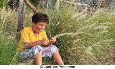 nature, enfant joue