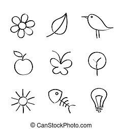 nature, icônes