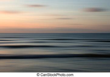 nature, résumé, mouvement, coucher soleil, fond, barbouillage