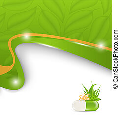 naturel, alternative, médicament, monde médical, fond