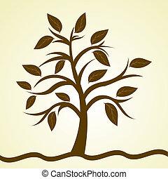 naturel, arbre