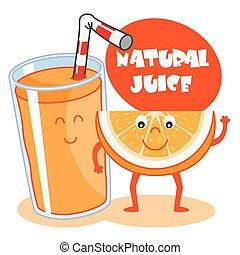 naturel, jus orange