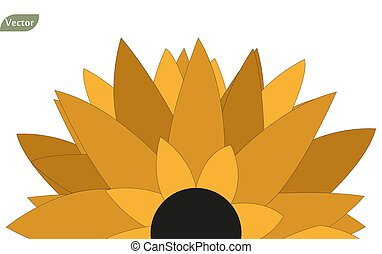 naturel, tournesol, résumé, fond, fleur, icône, beau