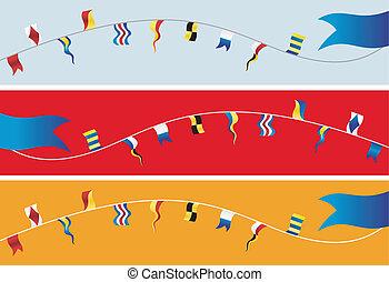 nautique, flags., bannière