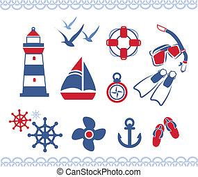 nautique, icônes