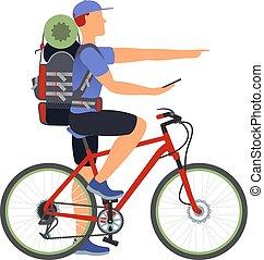 navigateur, vélo, travel., gps