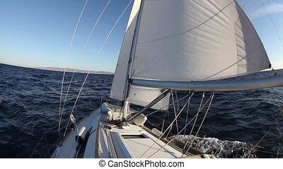 navigation yacht, mer, course