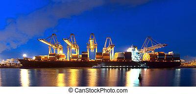 navire porte-conteneurs, panorama