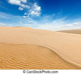 ne, dunes, levers de soleil, sable, vietnam, blanc, mui