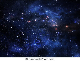 nebulae, profond, espace