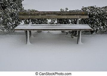 neige, banc