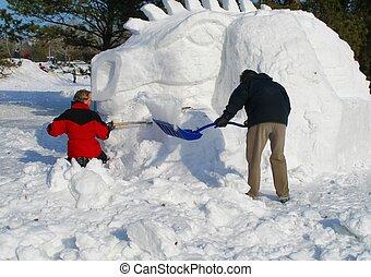 neige, dragon