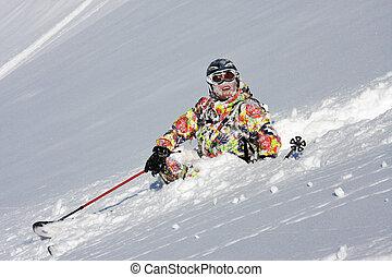 neige, krach, skieur