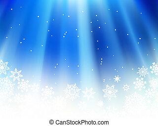 neige, noël, flakes., bleu, +, eps8
