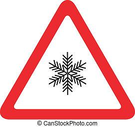neige, panneaux signalisations, trafic
