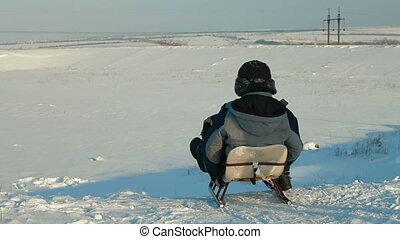neige, sledding