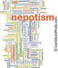 nepotism, concept, fond
