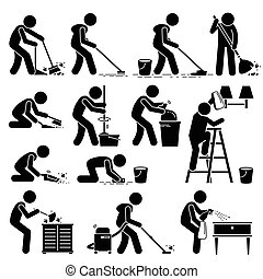 nettoyant foyer, nettoyeur, lavage