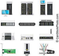netw, icon., informatique, vecteur, p.2, blanc