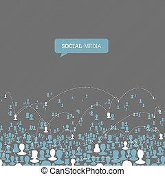 network., média, vecteur, eps10, social