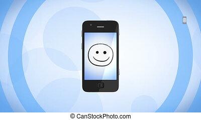 network., phones., coloré, hd, social