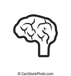 neurologie, icône