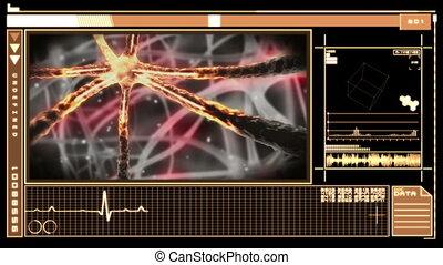 neurone, interface, monde médical