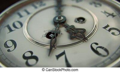 neutre, -, version, figure, 5, 6, horloge, vendange, passé