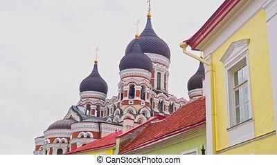 nevsky, cathédrale, alexandre, vue, tallinn.