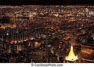 new york, manhattan, usa, nuit