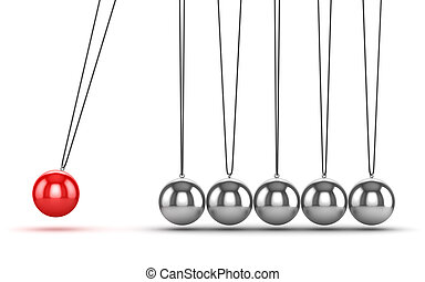 newtons, équilibrage, berceau, balles