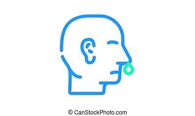 nez, couleur, snot, animation, icône
