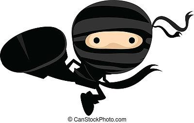 ninja, coup de pied