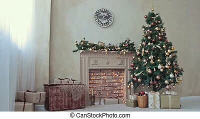 noël-arbre, cheminée