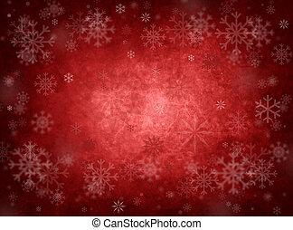 noël, arrière-plan rouge, glace