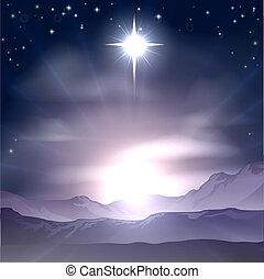 noël, bethlehem, nativit, étoile