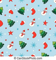 noël, bleu, snowmen, arbres, boules neige, fond