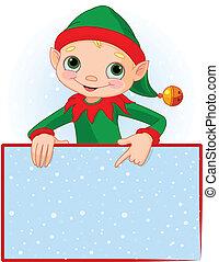 noël carte, elfe, endroit