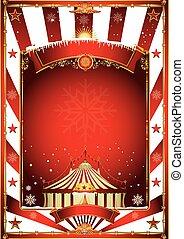 noël, cirque, vendange, affiche