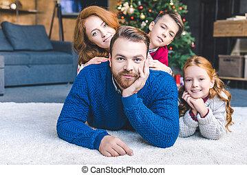 noël, famille, heureux