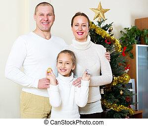 noël famille, heureux