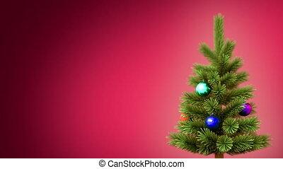 noël, fond, arbre
