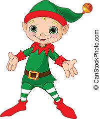 noël heureux, elfe