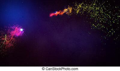 noël., stars., magie, joyeux