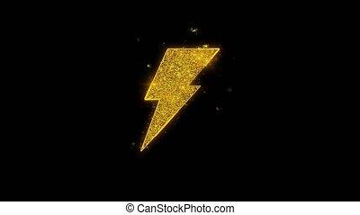 noir, énergie, arrière-plan., flash, icône, particules, étincelles