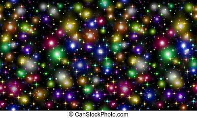 noir, étincelles, étoiles, seamless, boucle