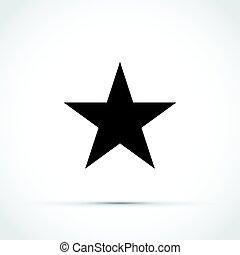 noir, étoile, icône